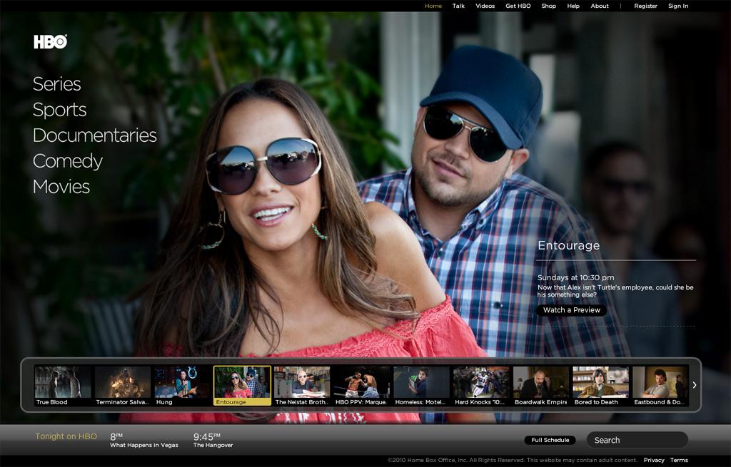 HBO.com Homepage