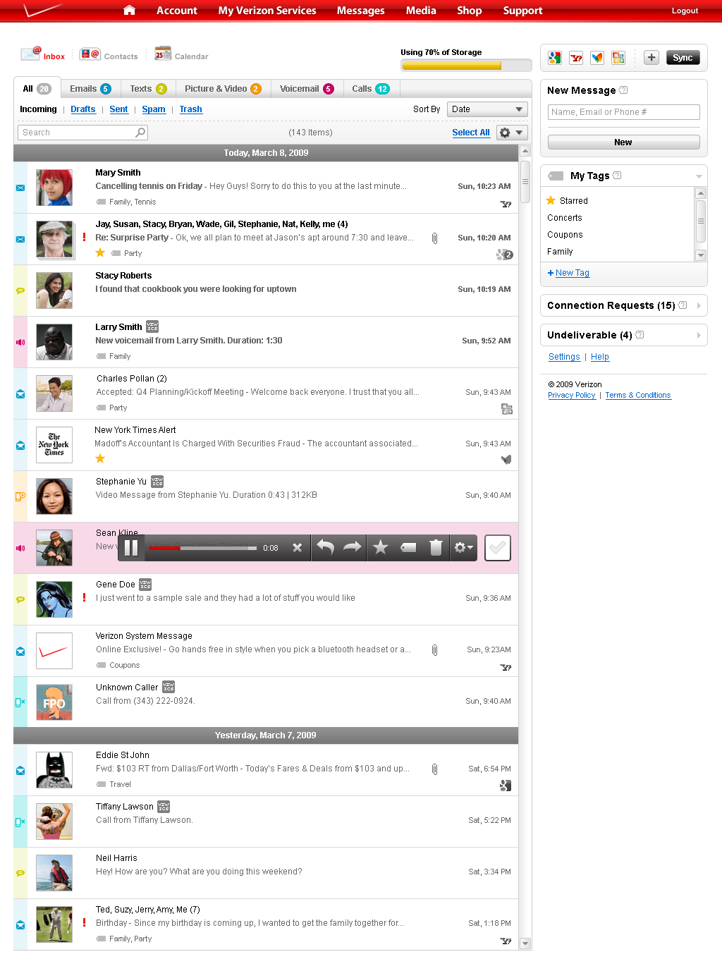 Sync & Connect Inbox