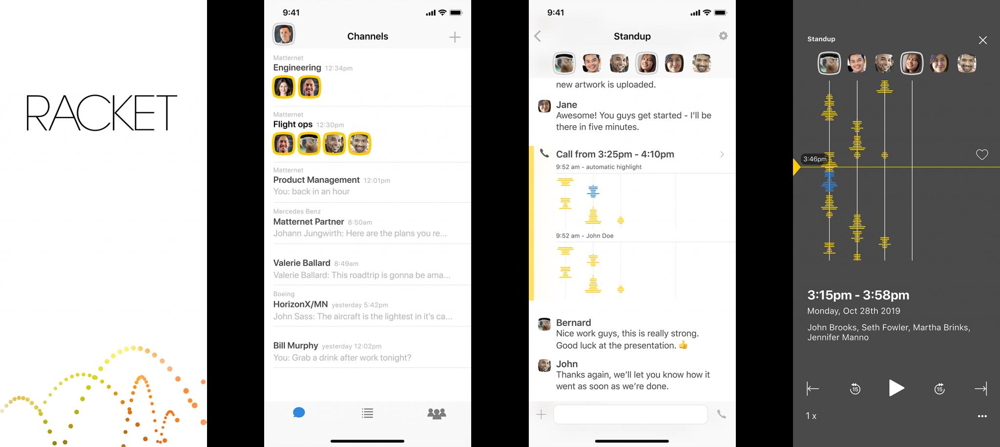 Racket iOS app